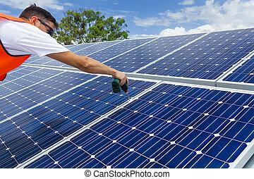 Instalación de panel solar