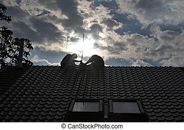 Instalación de protección de rayos