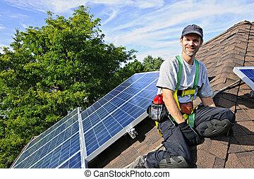 Instalación del panel solar