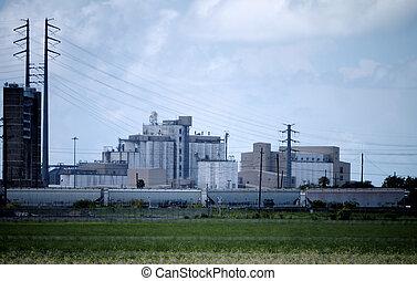 Instalaciones de producción de arroz industrial