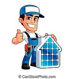 Instalador técnico de paneles solares