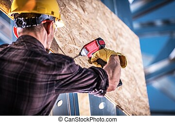 Instalando madera contrachapada