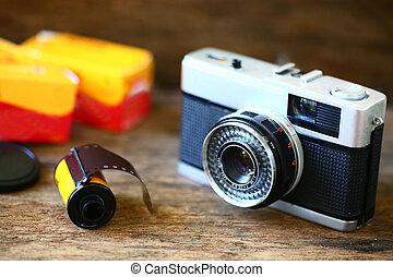 instead., foto, toma, amor, película, no, fotógrafo, viejo, sentimiento, presente, photography., cámara, digital, retro, classic., popular, because