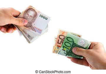 Intercambio de dinero
