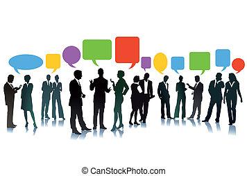 Intercambio de negocios de ideas