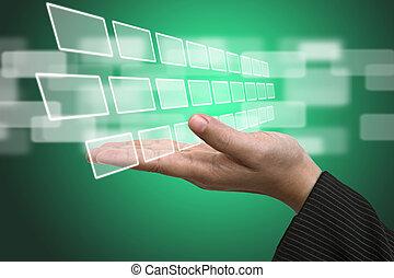 Interfaz de pantalla de entrada tecnológica