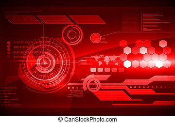 Interfaz de tecnología futurista