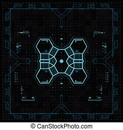 Interfaz de usuario gráfico futurista.
