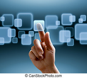 interfaz, touchscreen