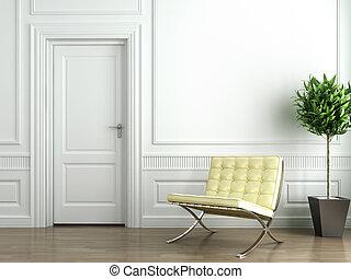 interior, blanco, clásico
