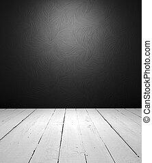 Interior blanco y negro