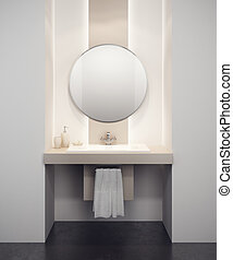 Interior de baño moderno