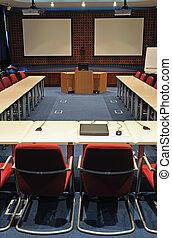 Interior de la sala de conferencias