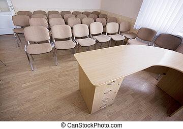 Interior de la sala de conferencias moderna