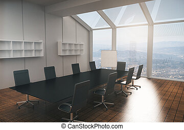Interior de la sala de juntas