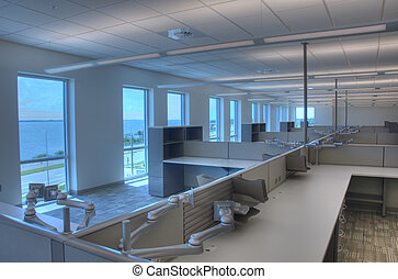 Interior de oficina, HDR