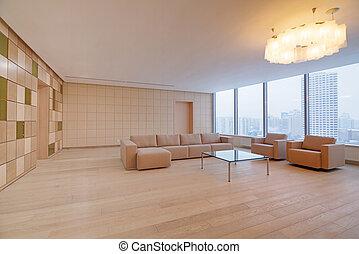 Interior de oficinas modernas