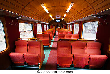 Interior de un viejo vagón