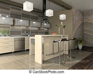 Interior del apartamento moderno