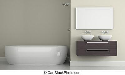 Interior del baño moderno