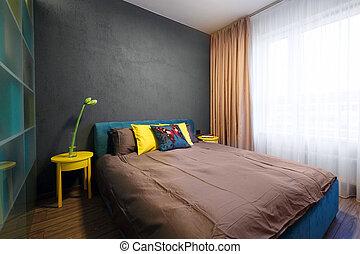 Interior, dormitorio