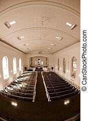interior, iglesia, fisheye, vista