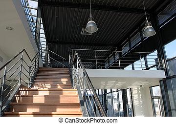 interior, industrial, -, detalle, escalera