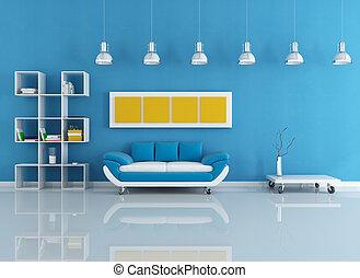 Interior moderno azul