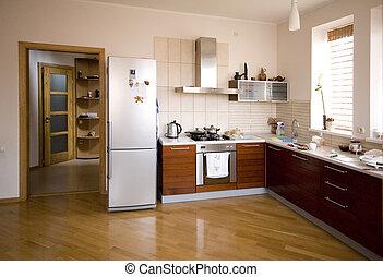 Interior moderno de cocina