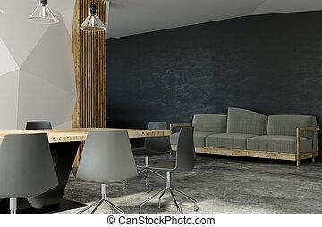 Interior moderno de la sala de juntas
