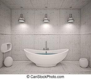 Interior moderno del baño