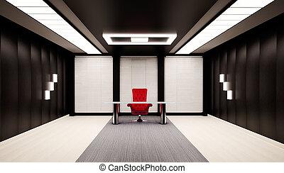 interior, oficina, 3d