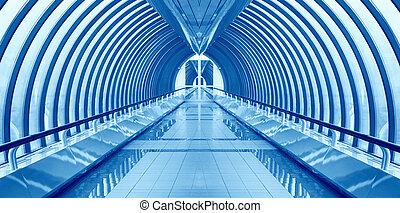 interior, puente, nadie, manera