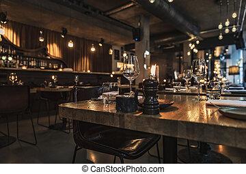 interior, restaurante, lujo