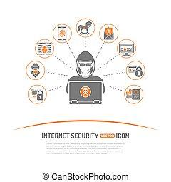 internet, concepto, seguridad