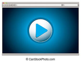 internet, vídeo, examinador