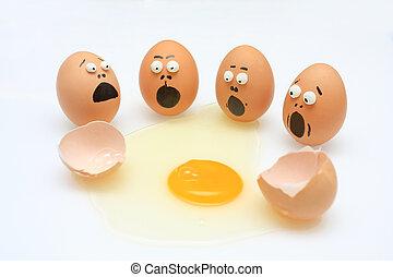 interrupción, huevo