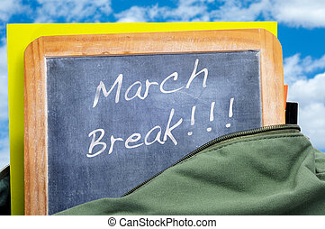 interrupción, marzo