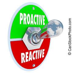 interruptor basculador, reactivo, carga, contra, toma, decidir, proactive