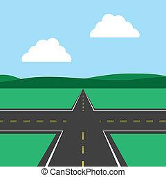 intersección del camino