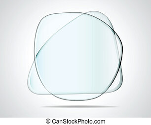 Interseccionando platos de vidrio
