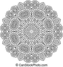 Intrincado patrón geométrico en el fondo blanco