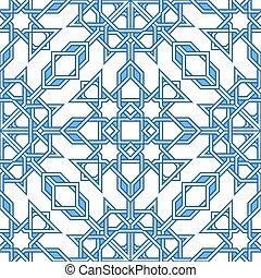 intrincado, patrón, morisco, oriental