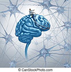Investigación médica cerebral