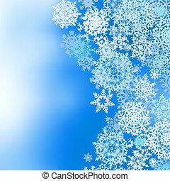 invierno, congelado, eps, snowflakes., plano de fondo, 8