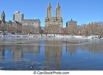 Invierno en Central Park. Nueva York.