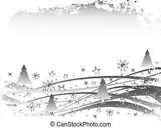 invierno, -, escena, navidad