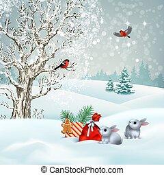 invierno, escena navidad