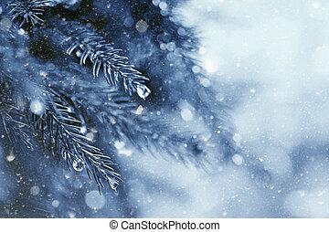 Invierno temprano en el bosque, antecedentes naturales abstractos