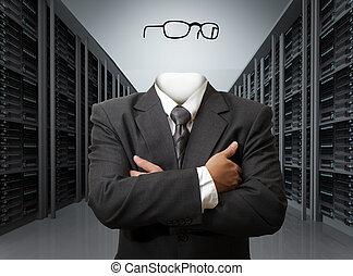 Invisible concepto de hombre de negocios